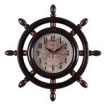 """Часы настенные в форме штурвала """"Карта"""" 3615-105"""