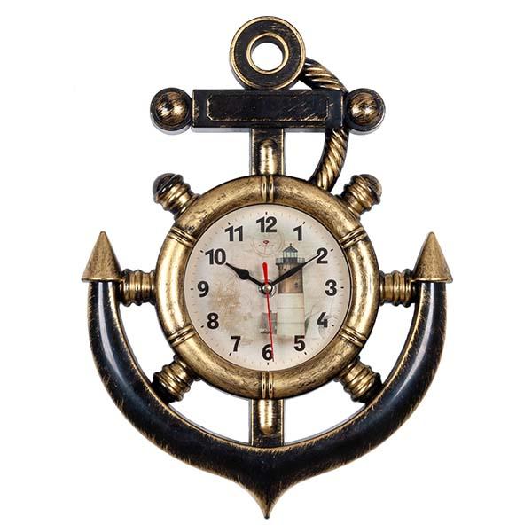 Часы настенные в форме якоря